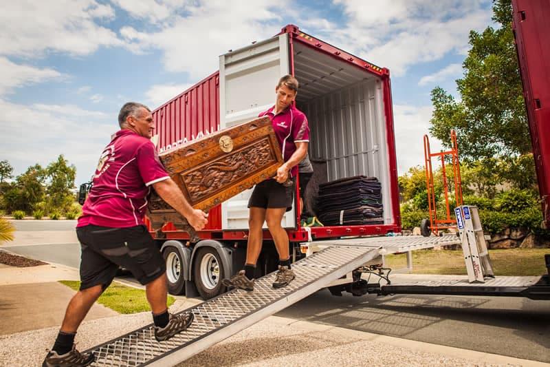 Unloading in Melbourne